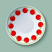 Ceramic Plate With Christmas Baubles Ornament