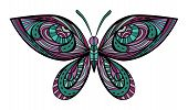 Vintage Colors Abstract Butterfly