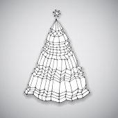 Hand drawn Christmas Tree, vector eps10 illustration