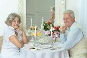 Portrait Of Beautiful Elderly Couple