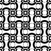Abstract Stripe Pattern. Vector Seamless Black and White Background. Regular Checkered Texture