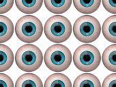 Seamless Pattern Of Human Eyeballs