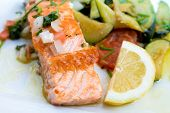 Grilled Salmon - with fresh lettuce