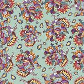 Decorative element. Abstract flower background