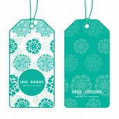 Vector abstract green decorative circles stars striped vertical round frame pattern tags set