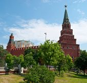 The Moscow Kremlin From The Garden