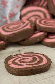 Chocolate Peppermint Pinwheel Cookies