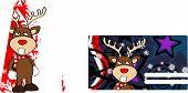 angry xmas reindeer cartoon giftcard