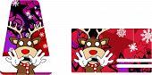 reindeer cartoon christmas giftcard