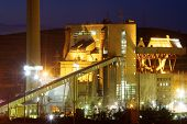 Factory production of electricity using coal, Teruel, Aragon, Spain.