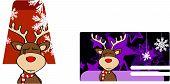 xmas reindeer cartoon giftcard