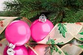 Christmas decoration balls with fir-tree