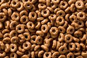 pattern of chocolate cereal rings