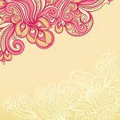 Beautiful Yellow And Pink Pattern