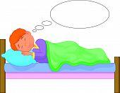 Cartoon boy sleeping