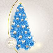 Abstract lace background with elegant Christmas blue Christmas t