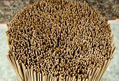 close  up the Group of incense stick