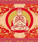 Buddha - Abstract Background, Beautiful Ornament Card