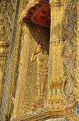 Thailand Angle Graven Wood Window