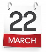 Vector of a calender of the date 2014 March 22nd.