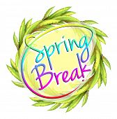pic of spring break  - A spring break template on a white background - JPG
