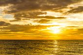 sunset at tropical sea background