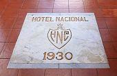 Inscription on the floor of the Hotel Nacional de Cuba.