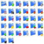 Storage Concept. Set of Folders Icons.
