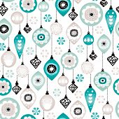 Seamless christmas winter blue ornaments and decoration illustration background pattern in vector