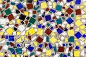 Mosaic Texture Background In Outside