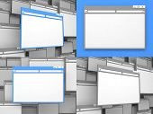 Blank Colorful Computer Windows.
