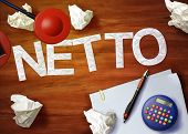 Netto Desktop Memo Calculator Office Think Organize