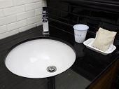Modern toilet sink
