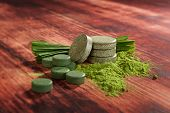 image of chlorella  - Alternative medicine detox - JPG