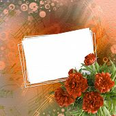 pic of san valentine  - Vintage card for congratulations and invitations with bouquet of red peonies - JPG