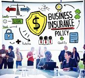 picture of insurance-policy  - Business Insurance Policy Guard Safety Security Concept - JPG