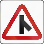 picture of intersection  - Bruneian danger warning sign - JPG