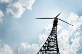 picture of turbines  - The wind turbine generator the renewable energy - JPG