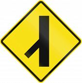 stock photo of intersection  - Chilean road warning sign - JPG