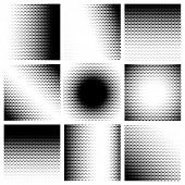 stock photo of dots  - Halftone dots pattern set backgrounds - JPG