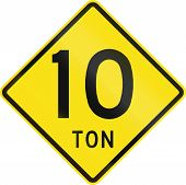 stock photo of restriction  - Warning road sign in Chile - JPG