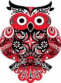 picture of owls  - Illustration of a red bird - JPG