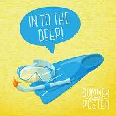picture of flipper  - Cute summer poster  - JPG