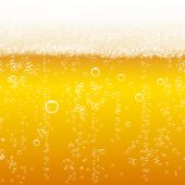 stock photo of bubbles  - Beer foam background - JPG