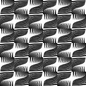 foto of diagonal lines  - Design seamless striped decorative pattern - JPG