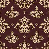 image of damask  - Damask seamless pattern - JPG