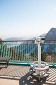 stock photo of seoraksan  - Observation point with telescope at Seoraksan National Park - JPG