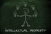 stock photo of juggling  - intellectual property and copyright ownership - JPG