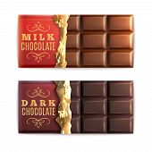 Постер, плакат: Chocolate Bars Set