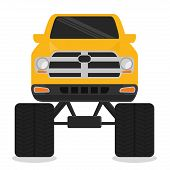 picture of monster-truck  - Vehicle design over white background - JPG